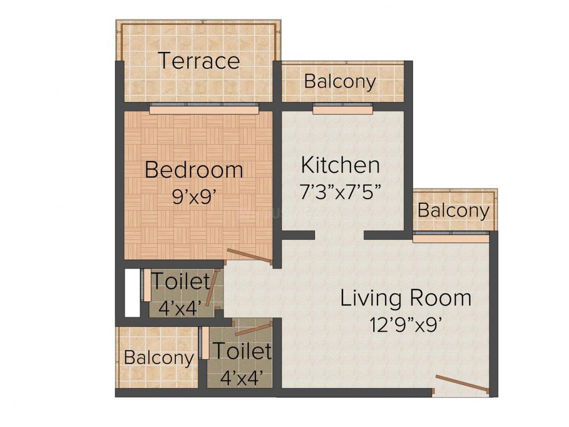 Floor Plan Image of 670 - 1170 Sq.ft 1 BHK Apartment for buy in Sambhav Jai  LK Planet