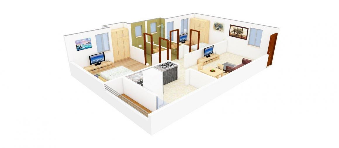 Floor Plan Image of 0 - 1016 Sq.ft 2 BHK Apartment for buy in Intech Ponni