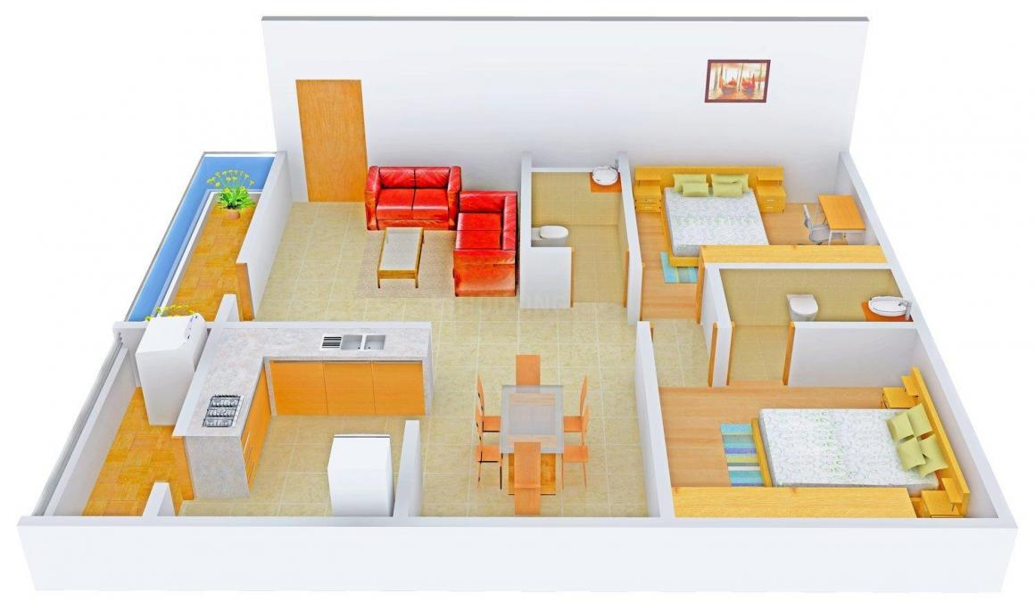 Floor Plan Image of 1155 - 1535 Sq.ft 2 BHK Apartment for buy in i1 SS Eliza
