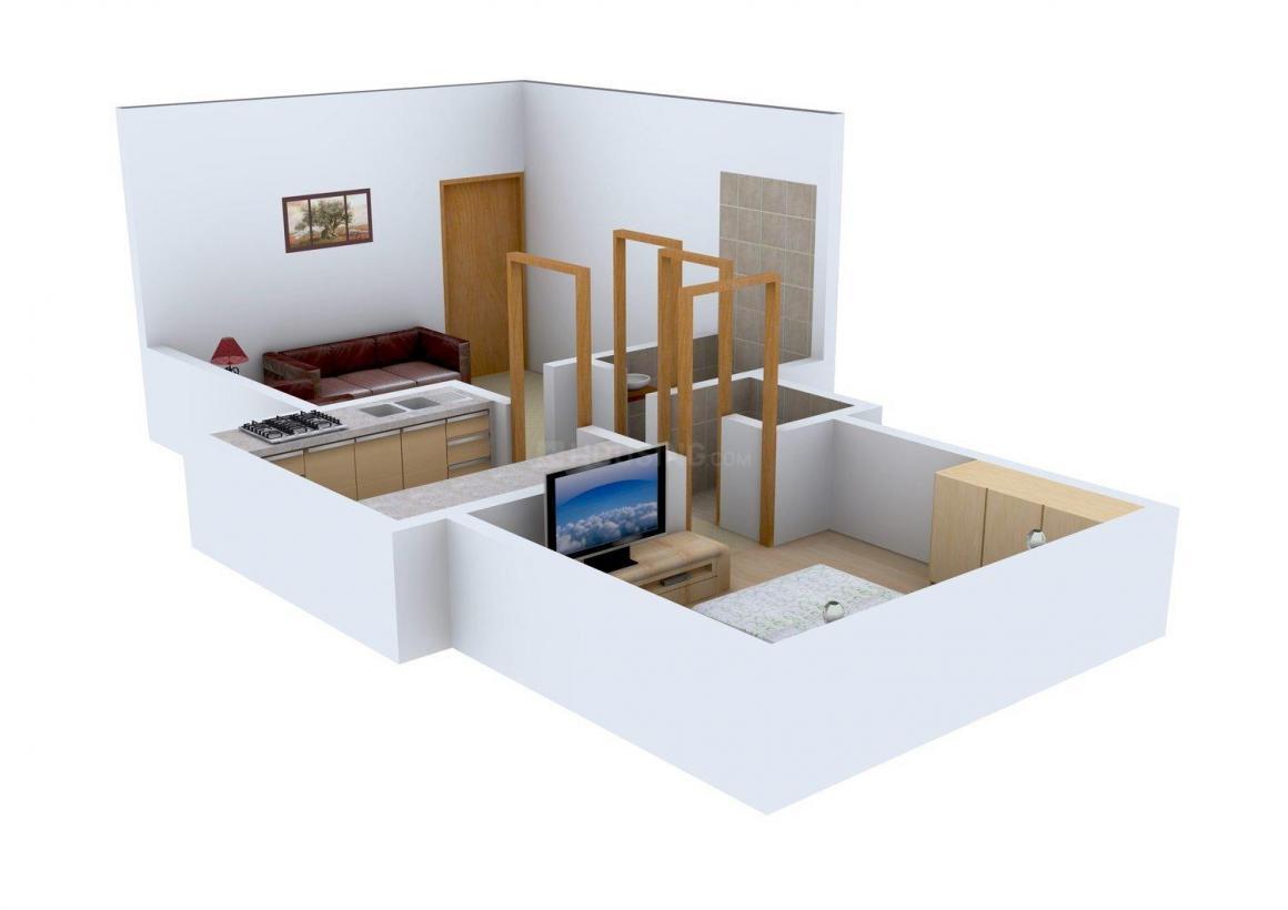 Floor Plan Image of 0 - 635.0 Sq.ft 1 BHK Apartment for buy in Aum Residency