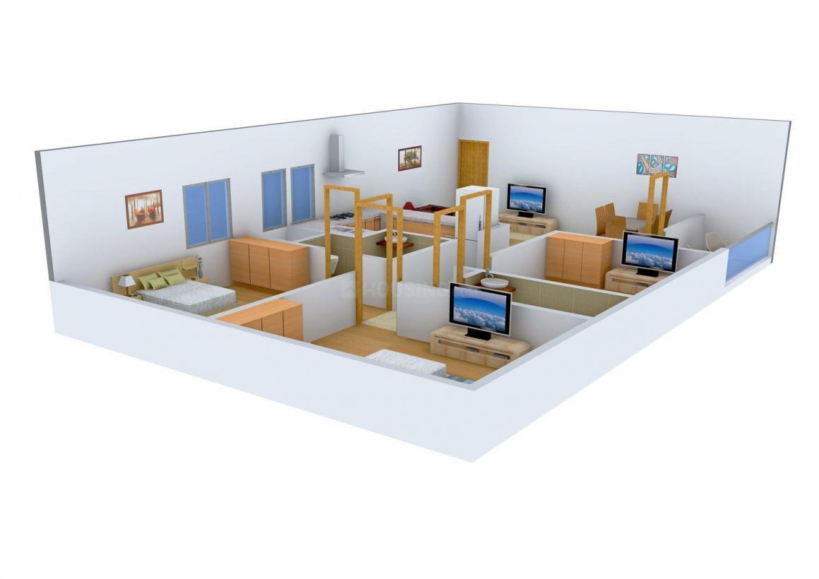 Floor Plan Image of 0 - 1100 Sq.ft 3 BHK Independent Floor for buy in AF Farhan Builders Site-1