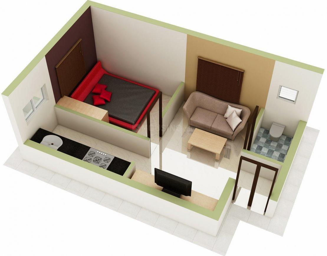 Floor Plan Image of 473.0 - 754.0 Sq.ft 1 BHK Apartment for buy in ATH Grace