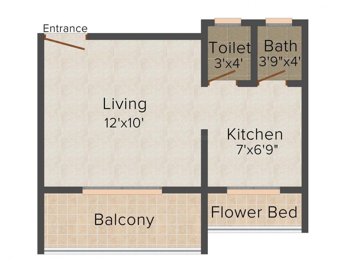 Floor Plan Image of 0 - 365.0 Sq.ft 1 RK Apartment for buy in Nandadeep Mayuresh