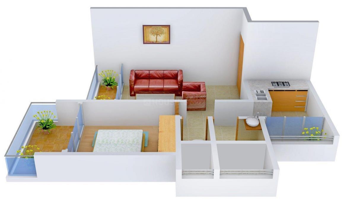 Floor Plan Image of 385.0 - 695.0 Sq.ft Studio Studio Apartment for buy in  Krishna Kutir