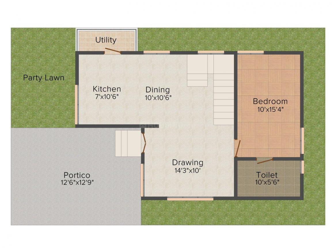 Namaha Rhythm Floor Plan: 3 BHK Unit with Built up area of 1885 sq.ft 1