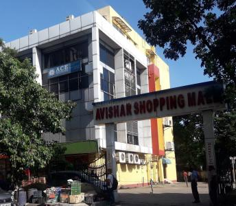 Shopping Malls Image of 420 Sq.ft 1 BHK Apartment for rent in Haltu for 15000