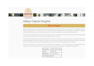 Aditya Capitol Heights Brochure 1