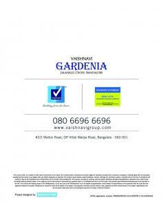 Vaishnavi Gardenia Brochure 13
