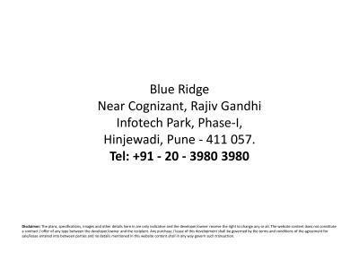 Paranjape Schemes Blue Ridge Project C Land T18 And T19 Brochure 45