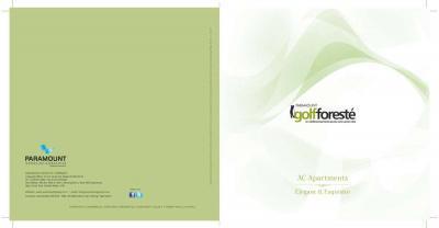 Paramount Golfforeste Premium Apartments Brochure 1