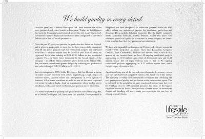 Sobha Lifestyle Legacy Brochure 23