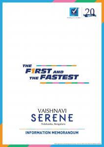Vaishnavi Serene Brochure 1