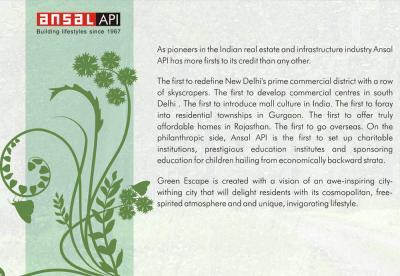 Ansal API Green Escape Brochure 10
