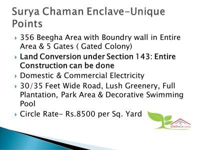 Del NCR Surya Chaman Enclave Plots Brochure 3