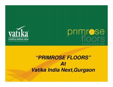Vatika Primrose Floors Brochure 1